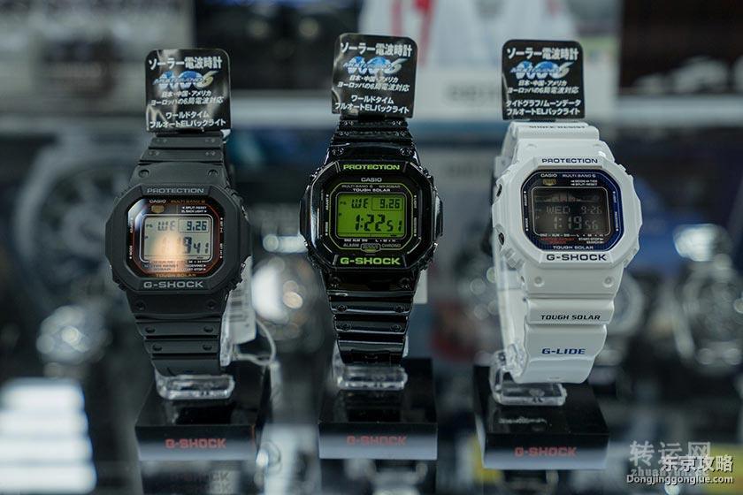 从左至右依序为GW-M5610-1JF、GW-M5610B-1JF、GWX-5600C-7JF