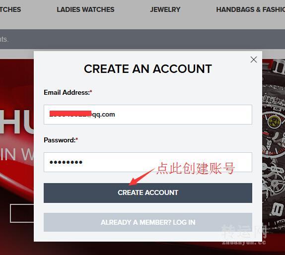 Jomashop官网大型品牌手表折扣网站海淘购物流程注册下单攻略