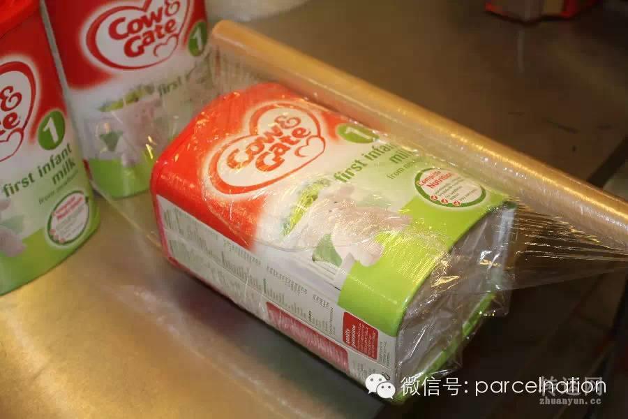 英国诚一物流转运包装说明,诚一物流奶粉包装介绍