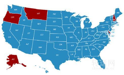 美国海淘转运到免税州还是普通州
