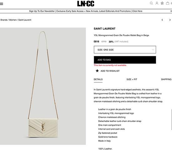 英国哪里可以买正品YSL手袋