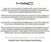 "MAC美国官方针对三八节促销邮件中""一个中国问题""道歉"