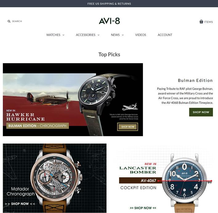 AVI-8观看美国官方商店:AVI-8 USA