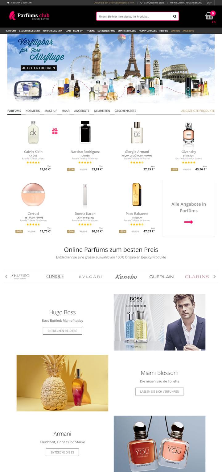 香水俱乐部德国网站:在线购买香水