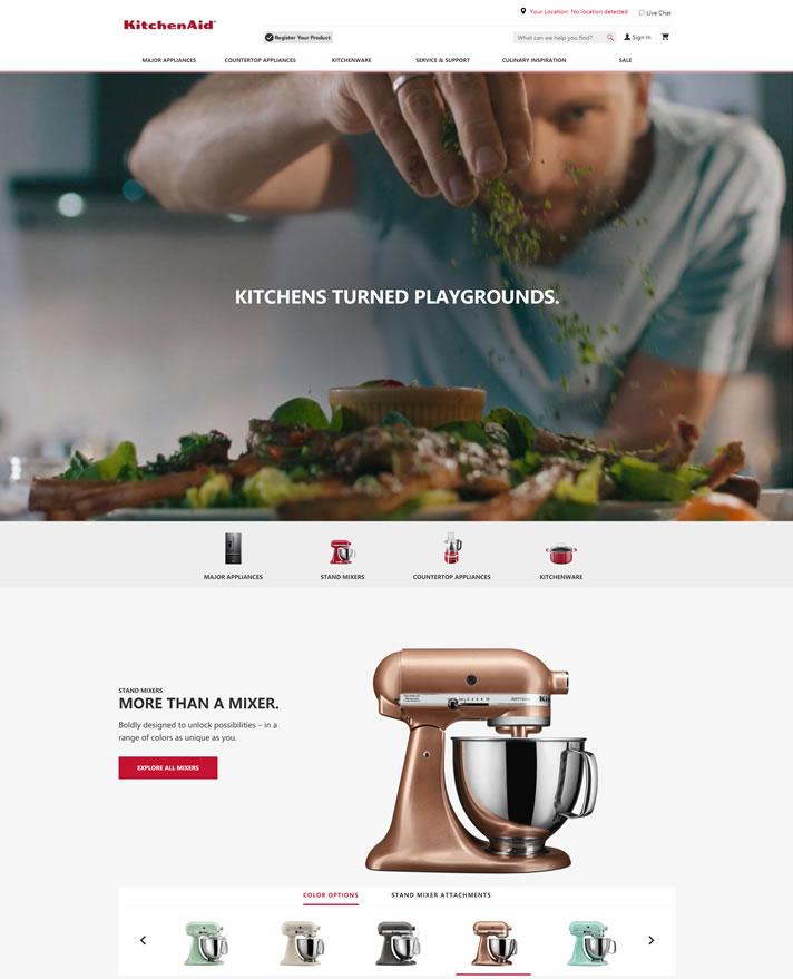 American Countertop和Kitchenware品牌:KitchenAid
