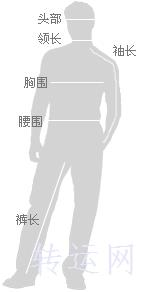海淘国际尺码对照表男士