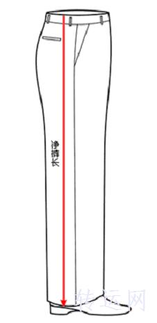 尺寸、裤长测量方法