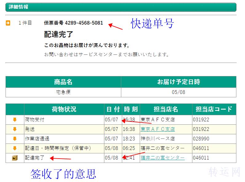 日本快递单号怎么查询是否到达仓库?