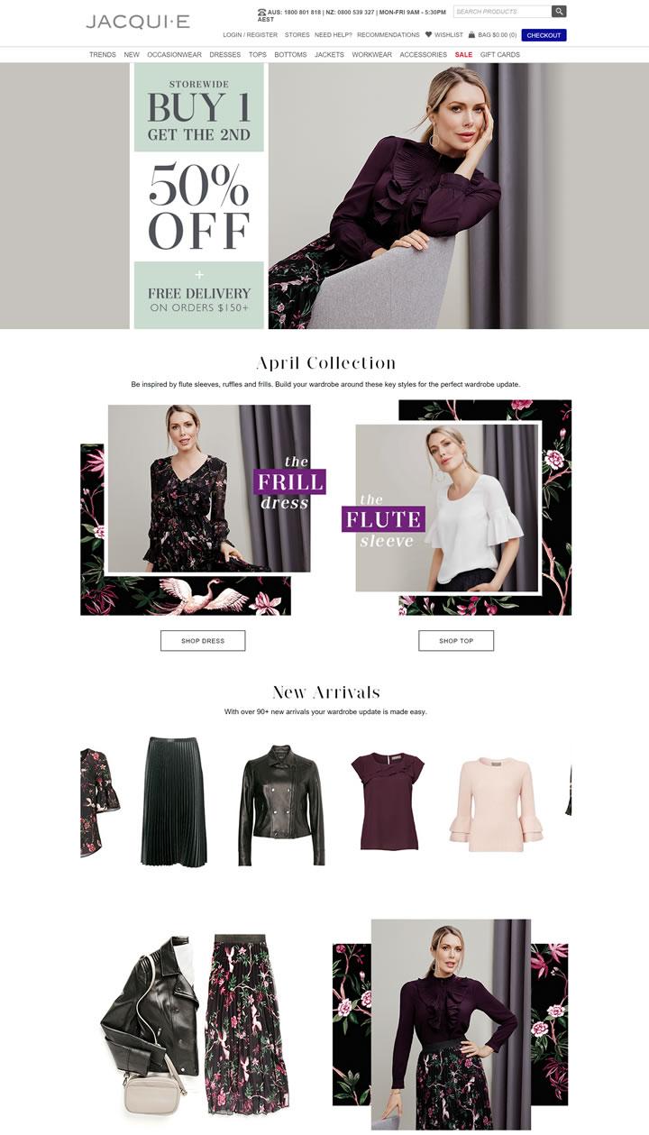 JacquiE网上商店:购买最新女装和连衣裙