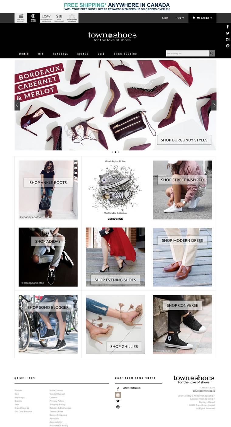 加拿大鞋子连锁店:Town Shoes