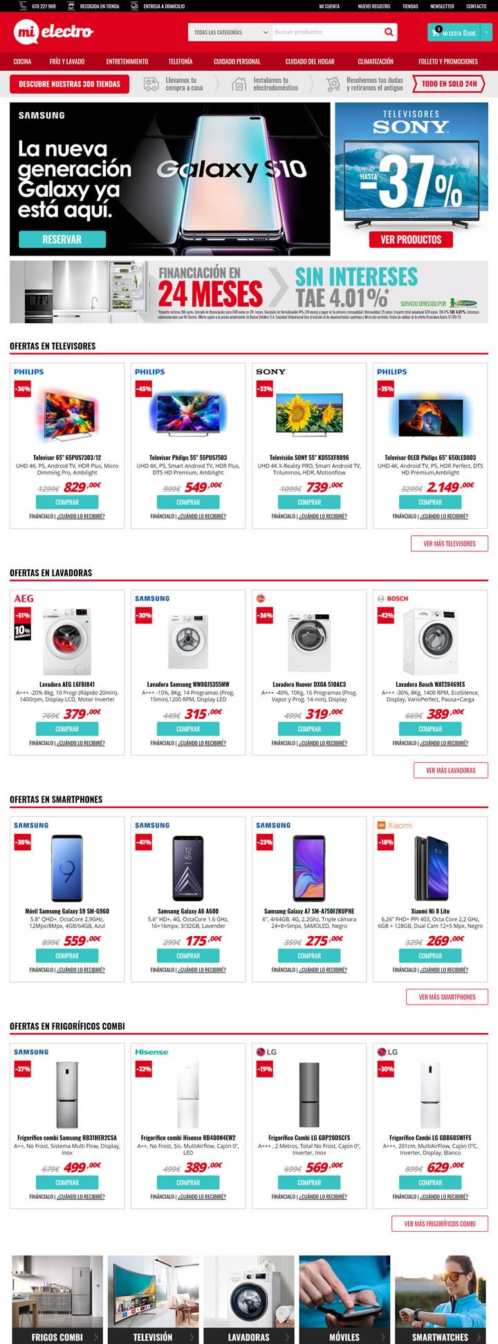 西班牙家用电器和电子产品购物网站:Mi Electro