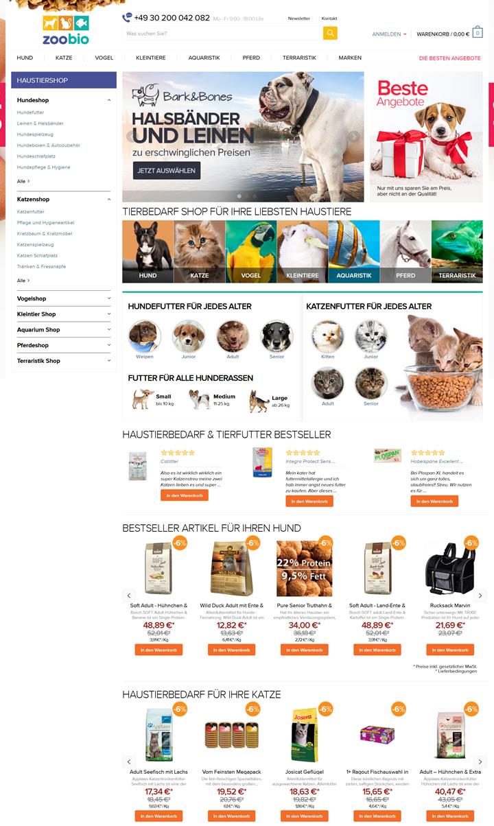 德国网上宠物店:Zoobio