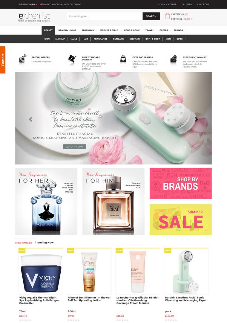 英国的一家网上药店和美容护肤类网站:eChemist