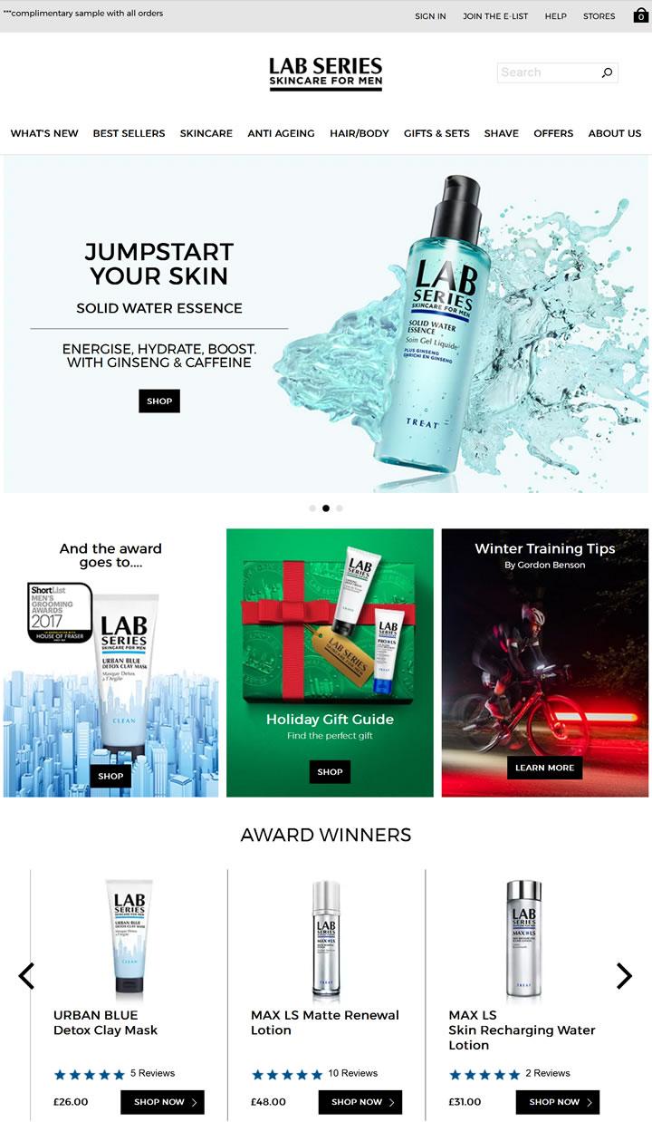 朗仕(Lab series)英国官网:雅诗兰黛集团男士专属护肤品牌