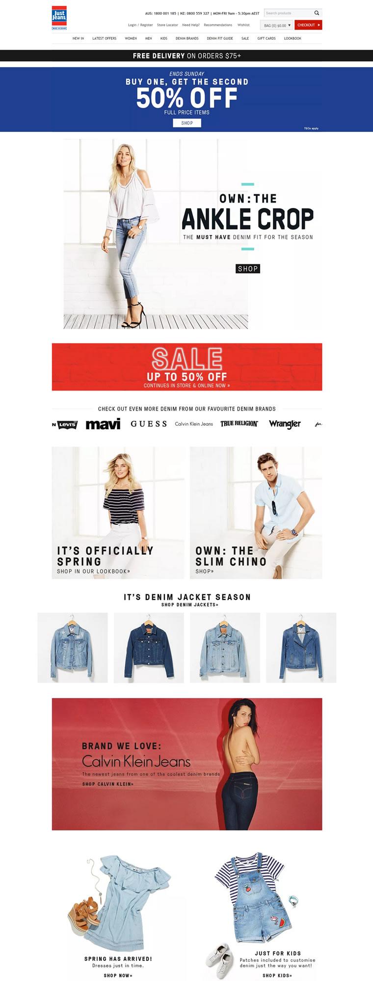 澳大利亚牛仔裤商店:Just Jeans