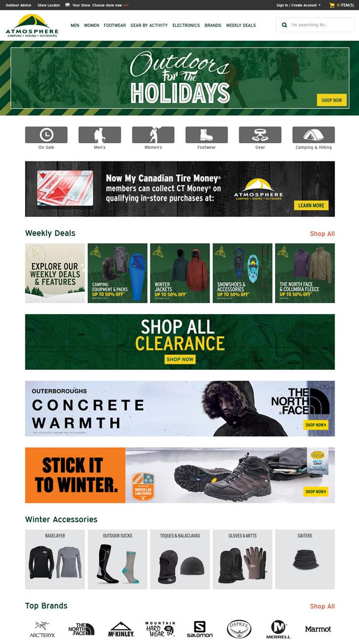 加拿大领先的冒险和户外零售商:Atmosphere
