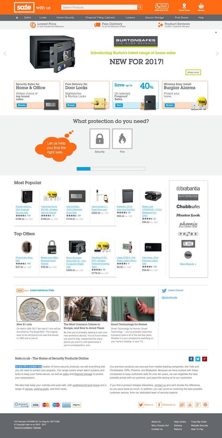 英国安全产品购物网站:The Safe Shop