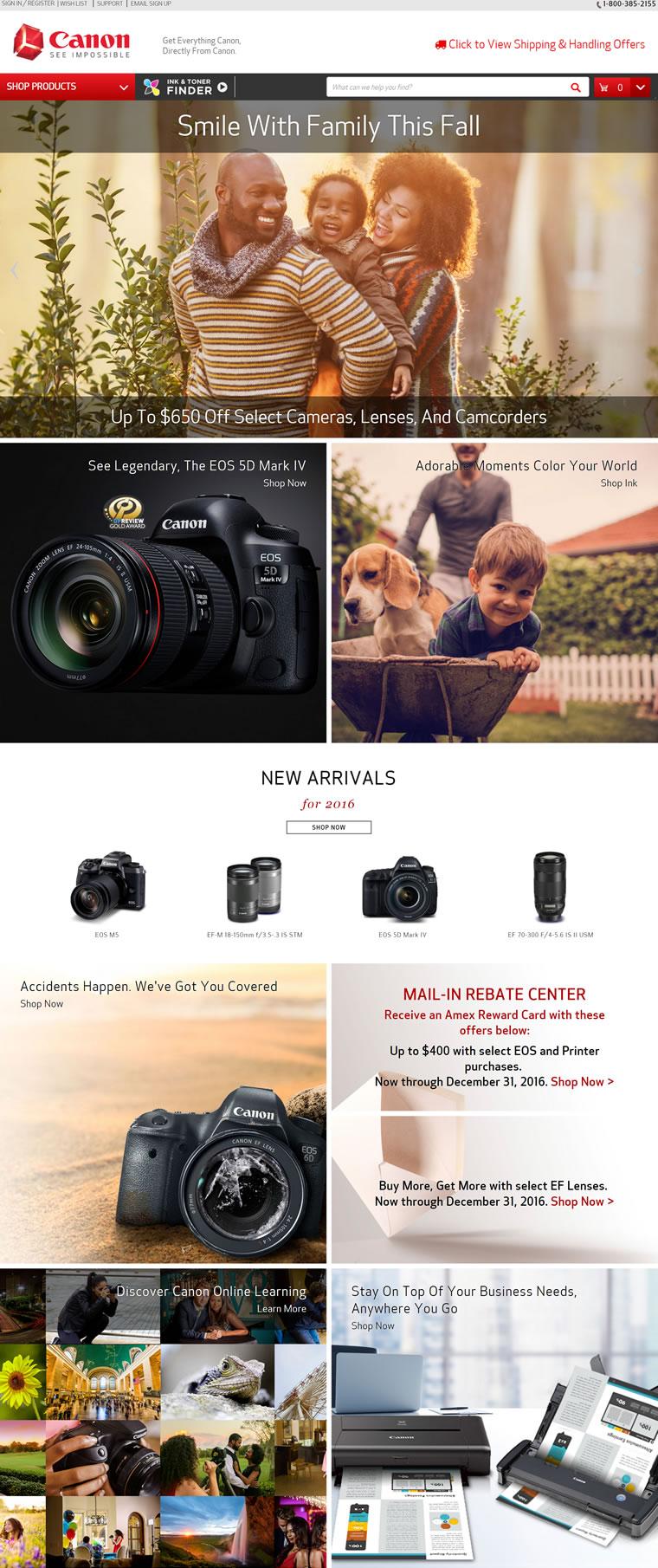 Canon佳能美国官方商店:购买数码相机、数码单反相机、镜头和打印机