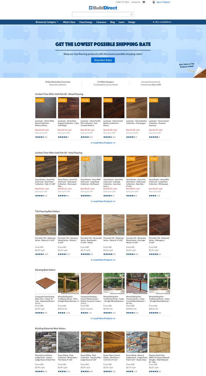 世界领先的在线地板和建筑材料批发商:BuildDirect