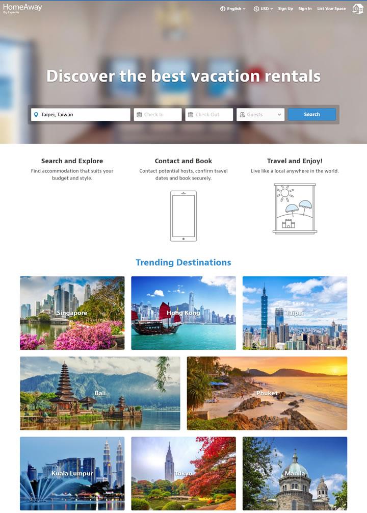 HomeAway新加坡:预订寄宿家庭、度假别墅、海滨别墅和更多