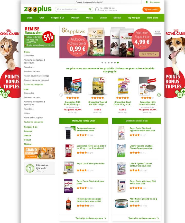 法国在线宠物店:zooplus.fr
