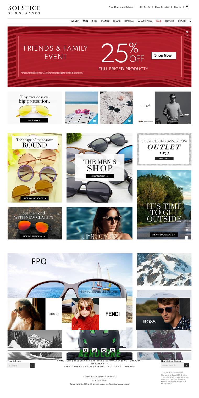 美国一家专业的太阳镜网上零售商:Solstice太阳镜