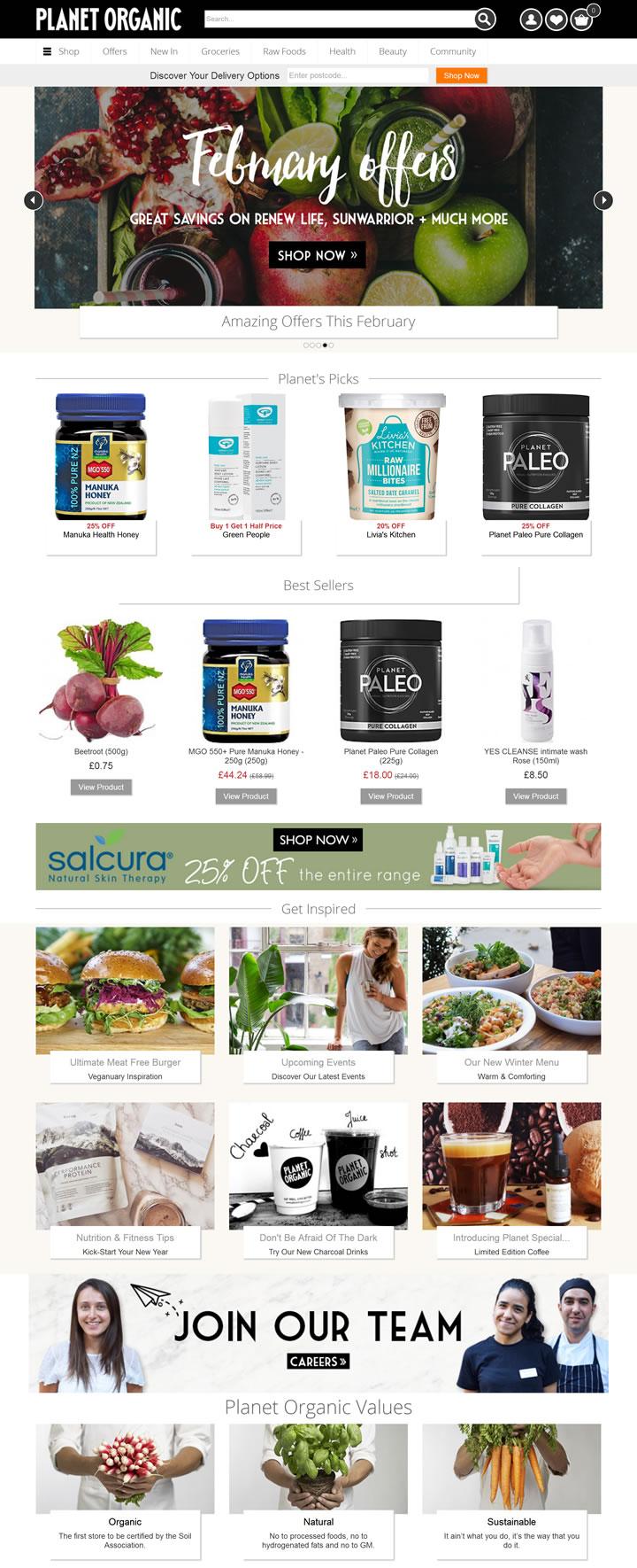 英国最大的经认证的有机超市:Planet Organic