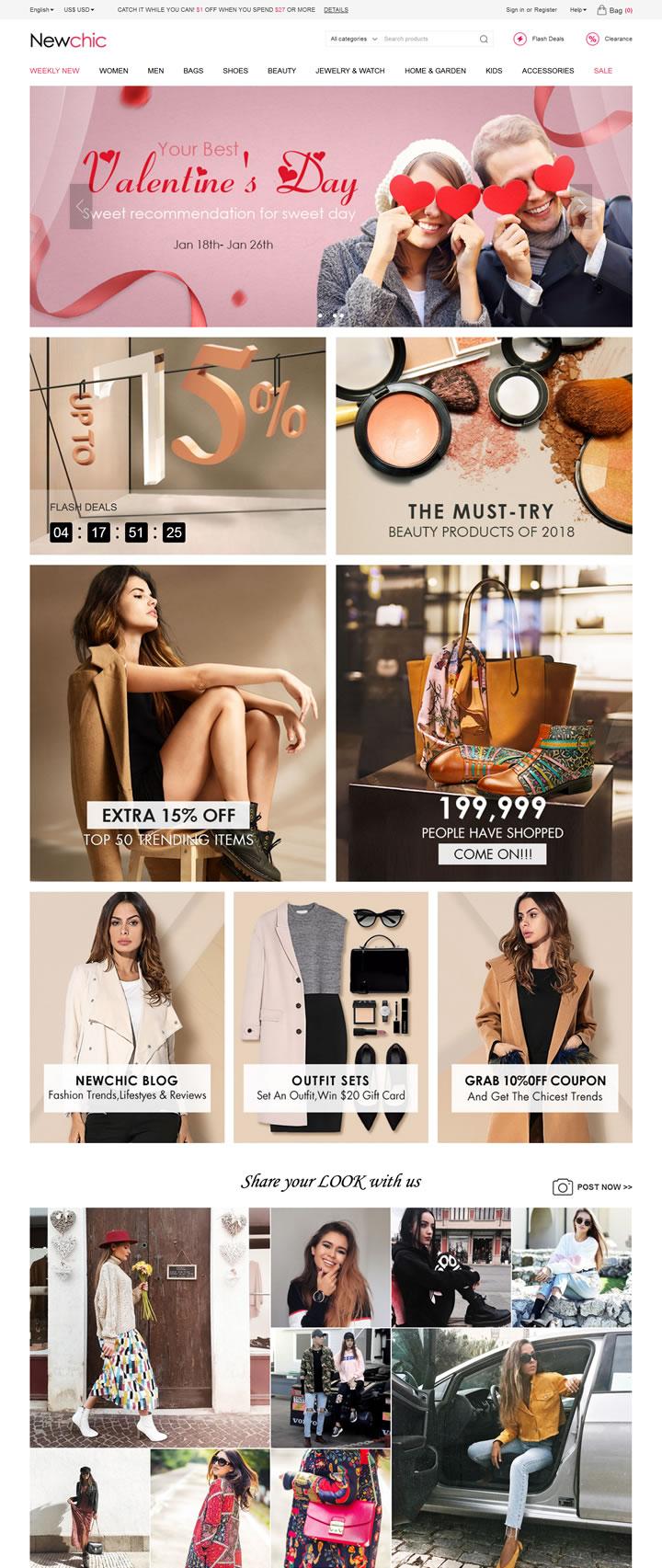 以实惠的价格提供高品质的时尚:Newchic