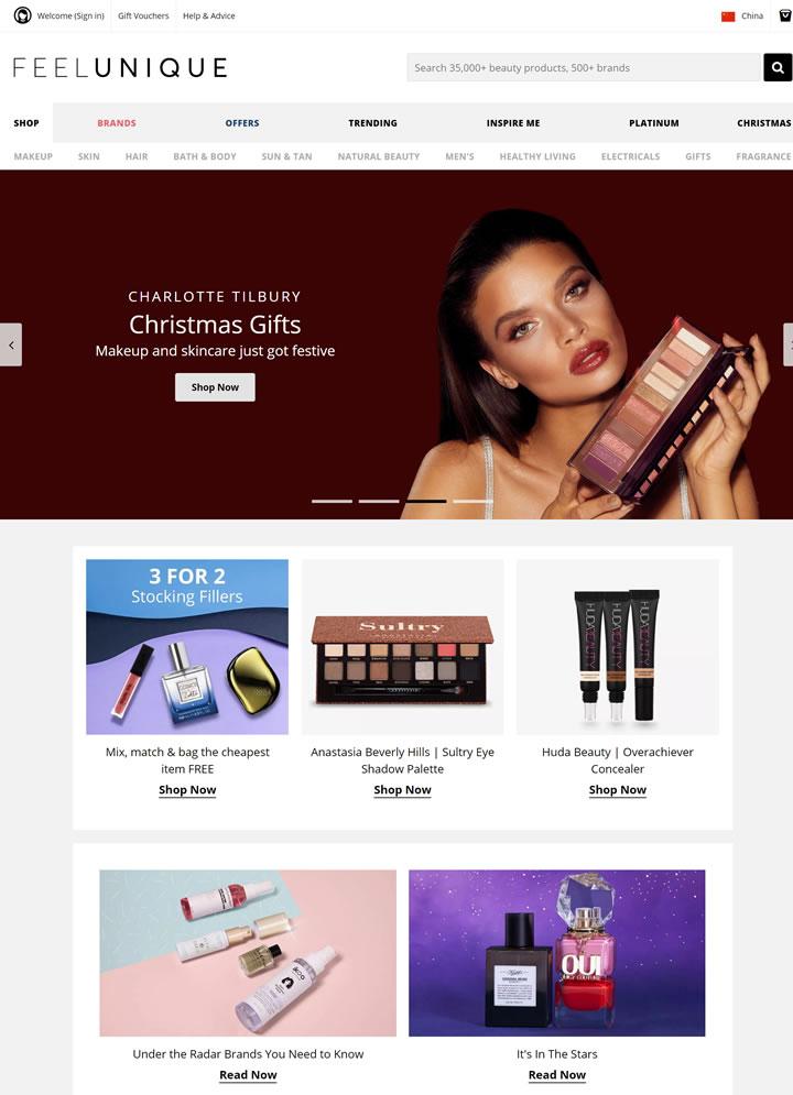 Feelunique美国:欧洲大型的在线美妆零售电商