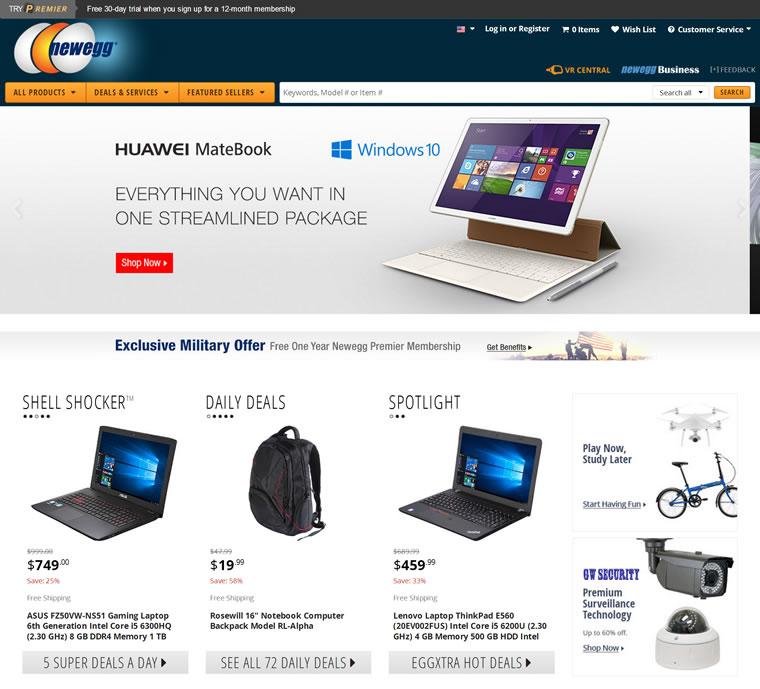 美国新蛋IT数码商城:Newegg.com