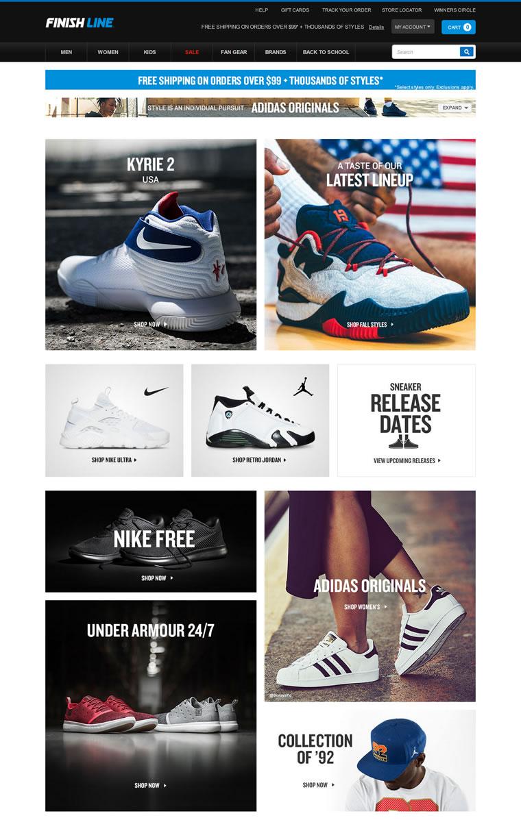 Finishline官网:美国一家领先的运动品牌鞋类、服装零售商