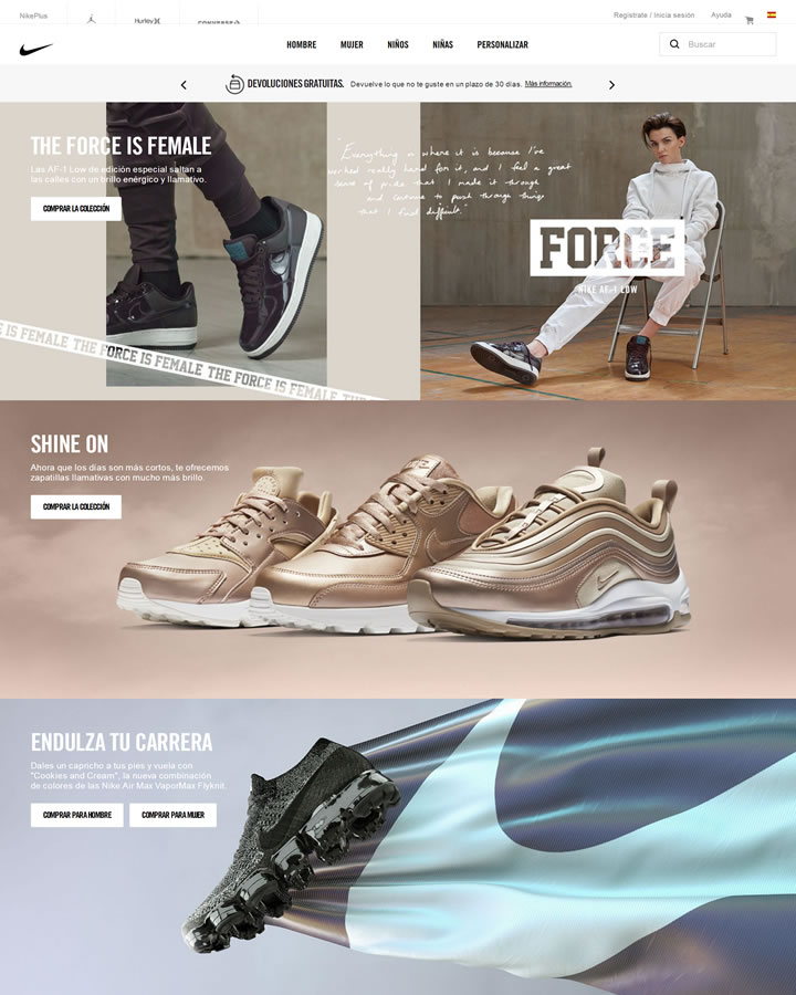 Nike西班牙官方网站:Nike.com (ES)