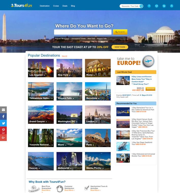 美国旅游网站:Tours4Fun