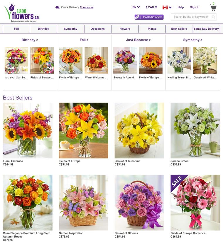 加拿大花店:1800Flowers.ca