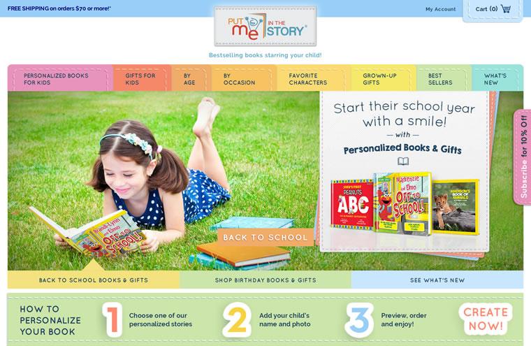 专门出售各种儿童读物的网站:Put Me In The Story
