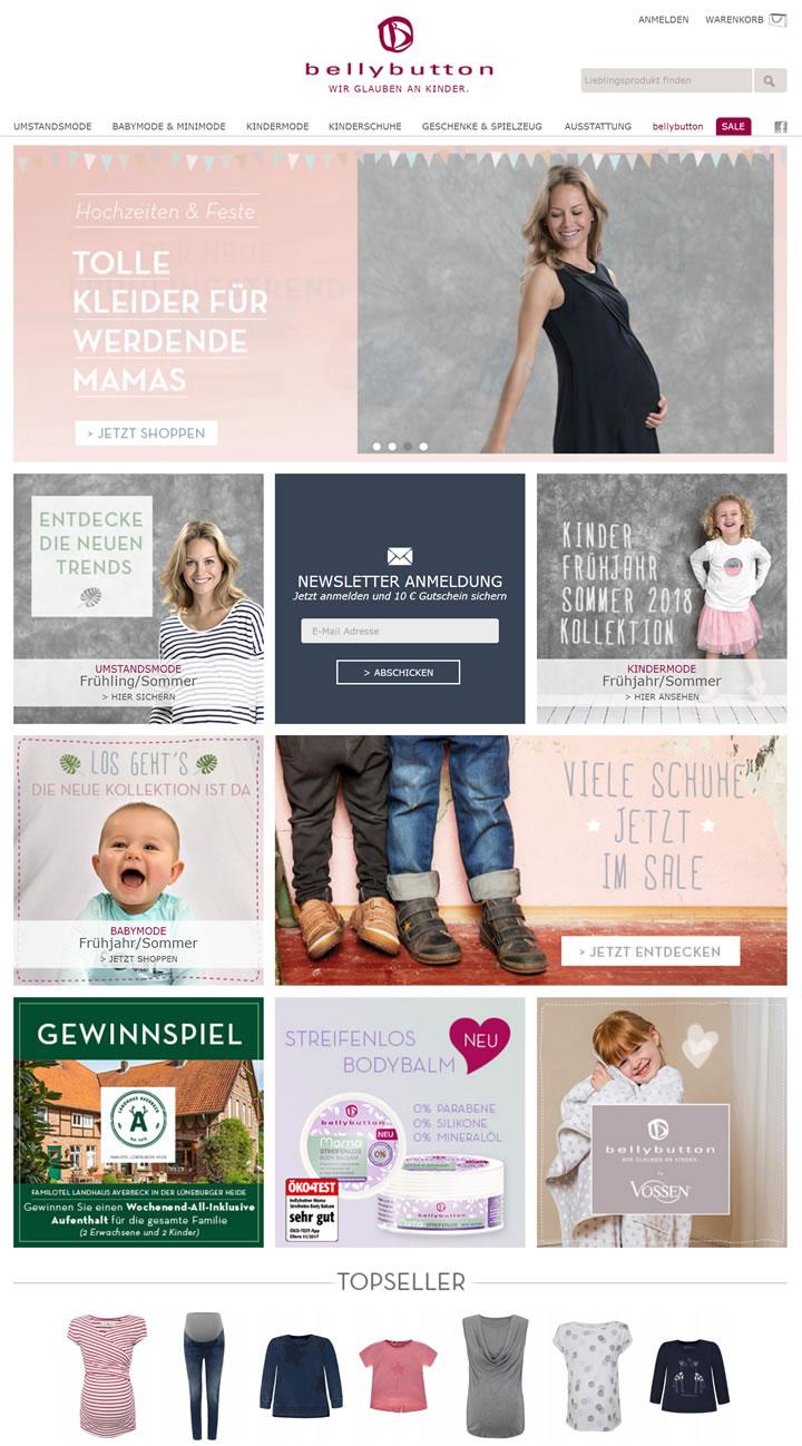 德国孕妇装和婴童服装网上商店:bellybutton