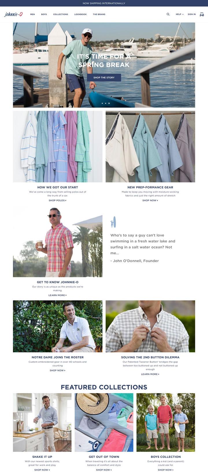 西海岸男士和男童服装:Johnnie-O
