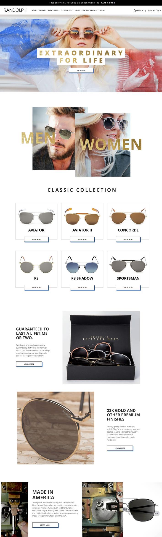 美国Randolph太阳镜官网:美国制造的飞行员太阳镜和射击眼镜