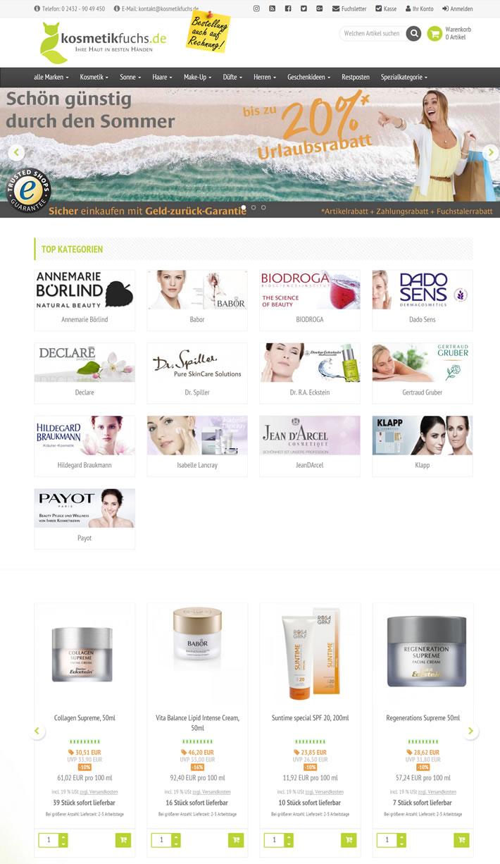 德国化妆品和天然化妆品网上商店:kosmetikfuchs.de