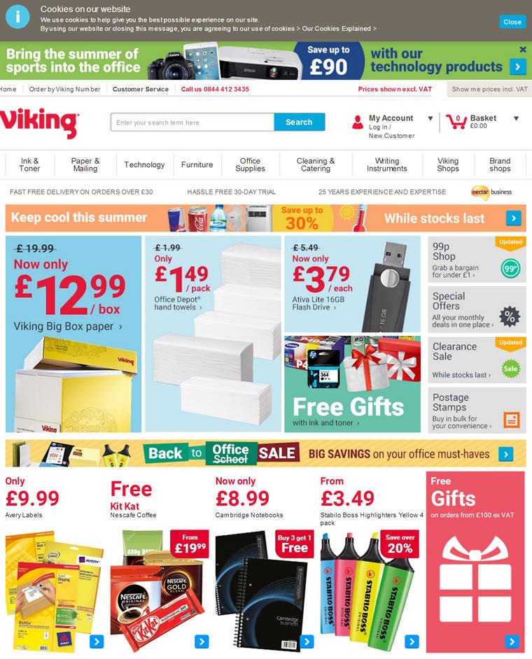 英国领先的办公用品供应商:Viking