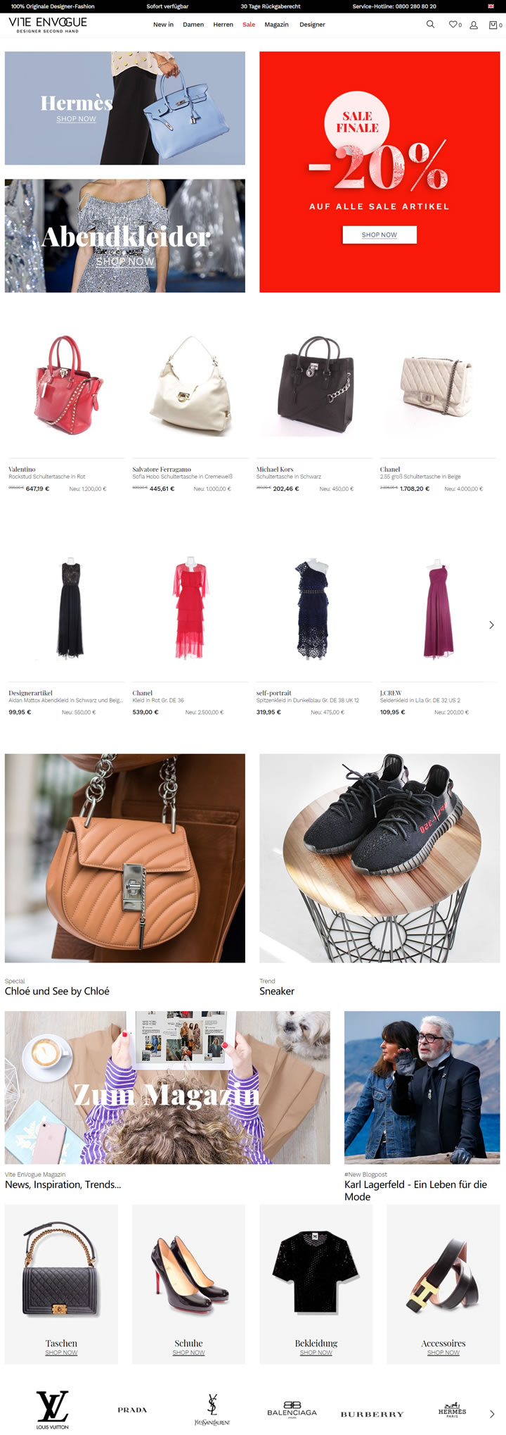 德国豪华二手设计师时装商店:Vite EnVogue