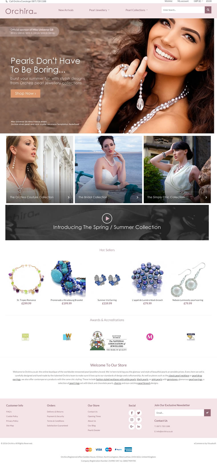 英国领先的珍珠首饰品牌:Orchira