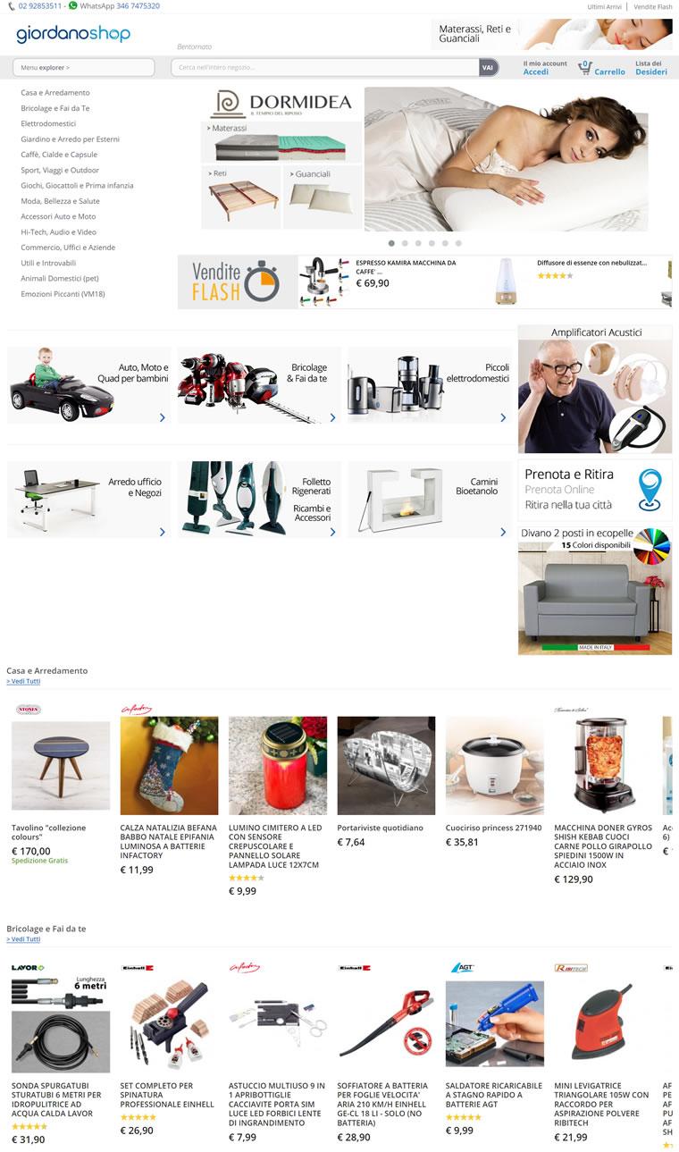 意大利综合购物网站:Giordano Shop