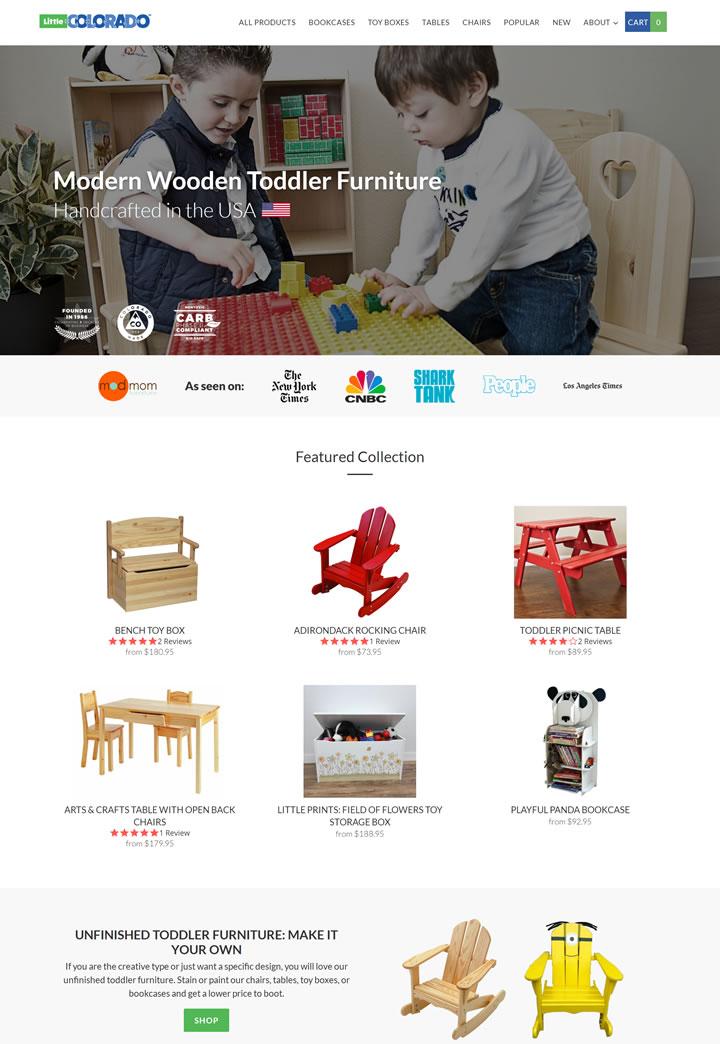 美国制造的手工儿童家具:Little Colorado