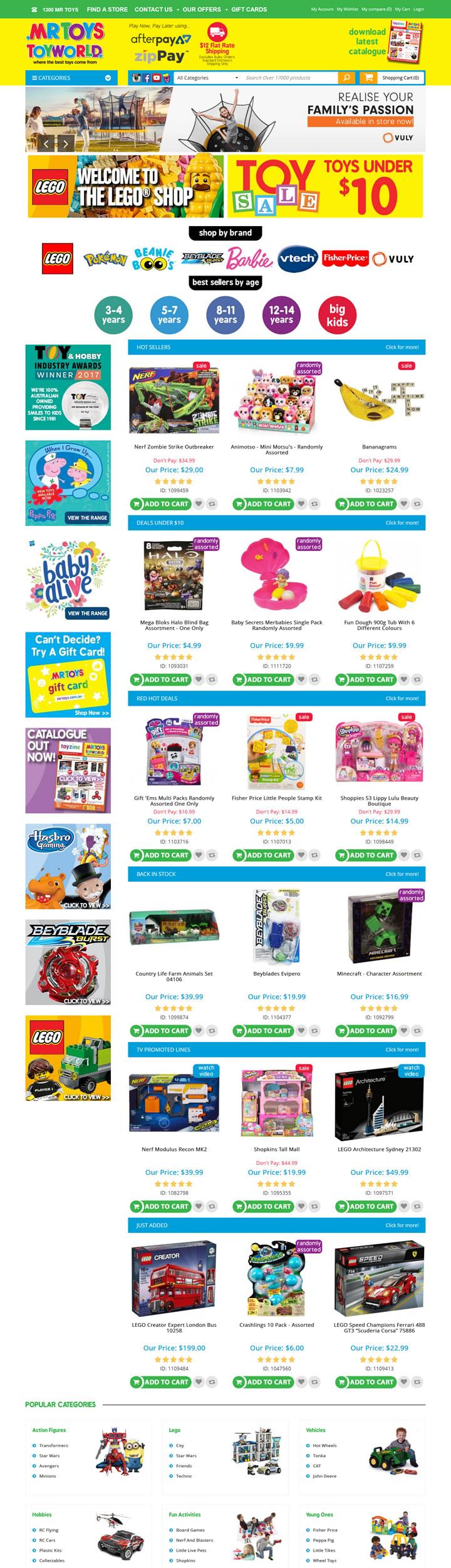 澳大利亚网上玩具商店:Mr Toys Toyworld