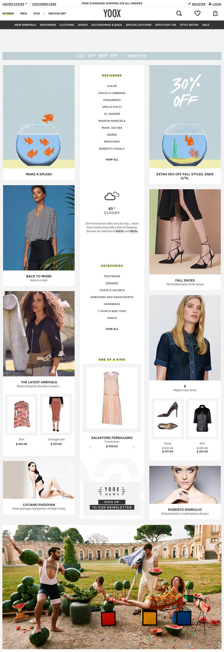 YOOX美国官方网站:全球著名的多品牌时尚网络概念店
