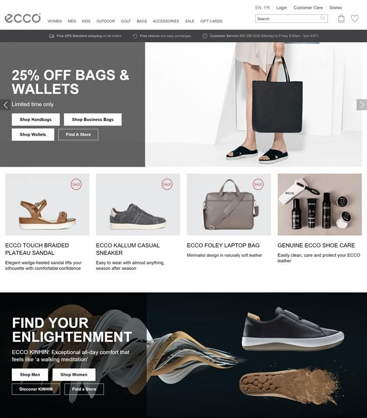 ECCO爱步加拿大官网:北欧丹麦鞋履及皮具品牌