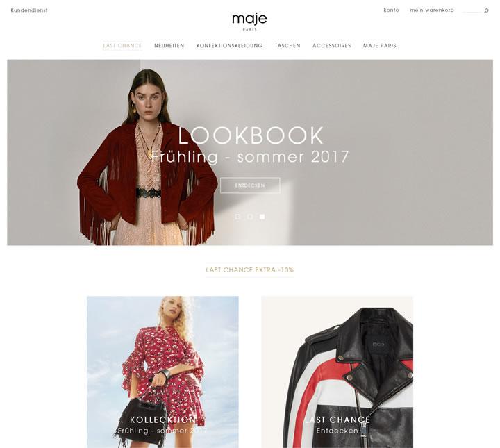Maje德国官网:法国女性成衣品牌