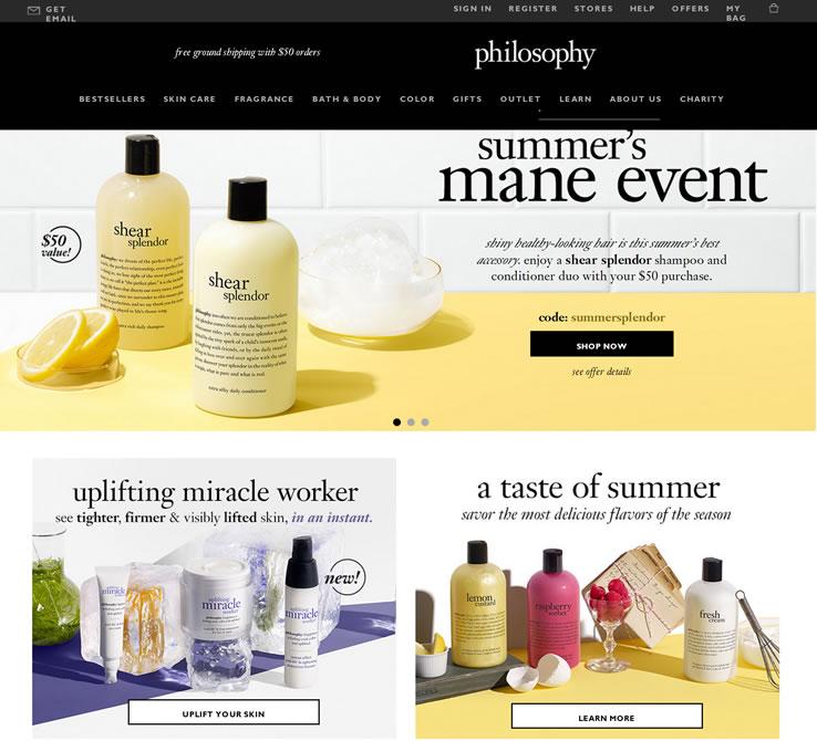 Philosophy美国官网:美国美容品牌