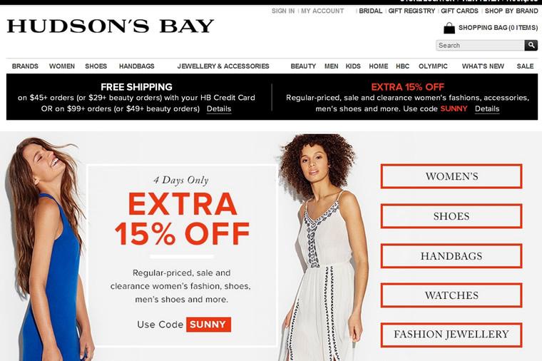加拿大的标志性百货公司:Hudson's Bay(哈得逊湾)